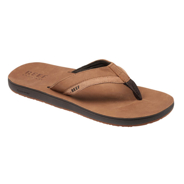 Reef Slipper Leather Contoured Bruin